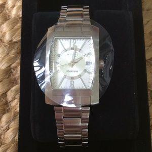 NWOT NIB Tourneau Ladies Stainless Silver Watch